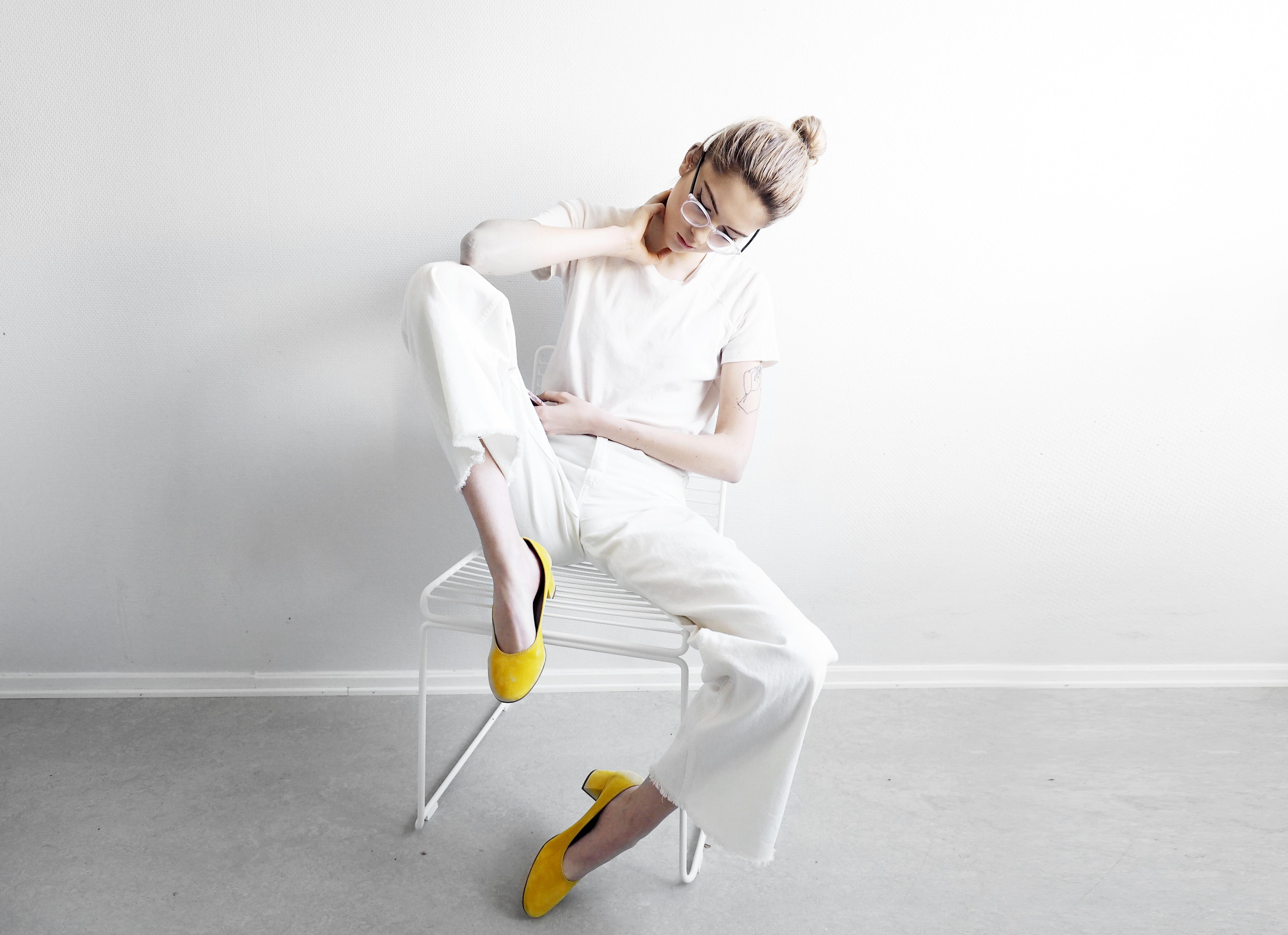 Shoes- Made by sarenza, pants- Monki, top- Ragdoll, glasses- GlassesUSA